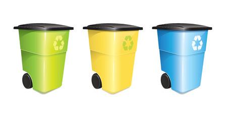 kompost: Garbage Container Set Illustration