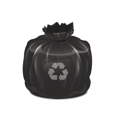 garbage bin: Garbage Bag  Illustration