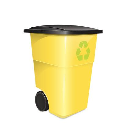 reciclar basura: Contenedor de basura