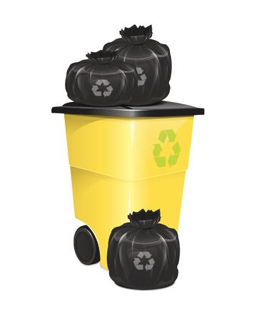 kompost: M�llcontainer Mit Beutel