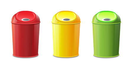 recycle bin: Bin Set Illustration