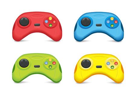 joypad: Color Gamepad Set Vectores