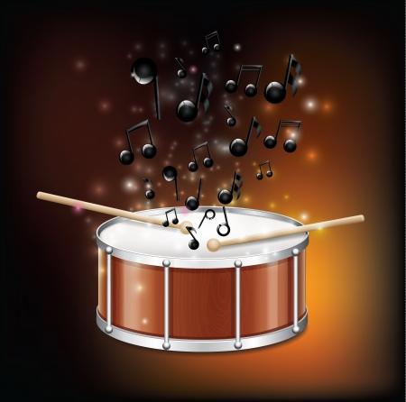Drum With Melody2  Vector