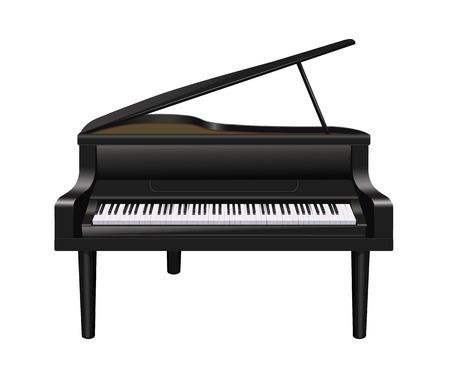 piano de cola: Piano Vectores