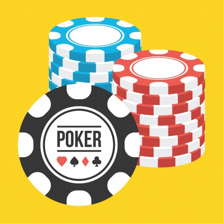 pile of cash: Poker Chips Stacks Icon