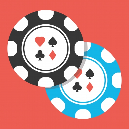 poker chip: Two Poker Chips Icon