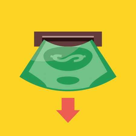 withdraw: Vector Withdrawals Icon Illustration