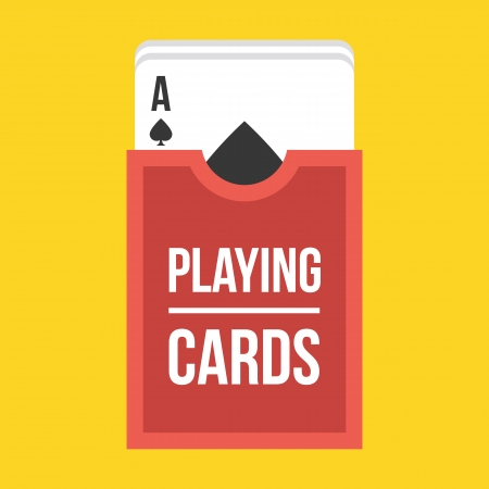 cards deck: Deck of Playing Cards Icon Illustration