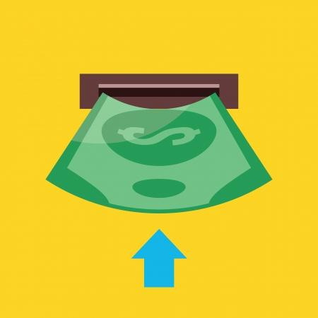 withdraw: Insert Money Icon