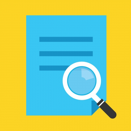 File Search Icon Vector