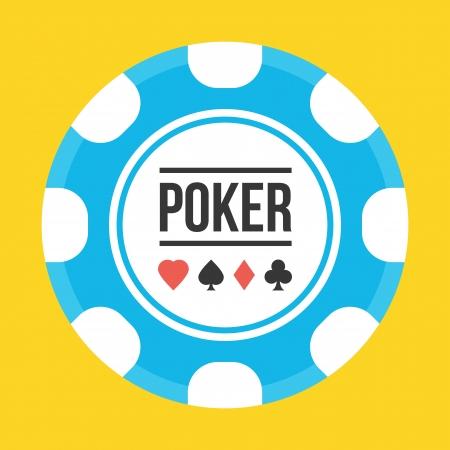 fichas casino: Poker Icon chip Vectores