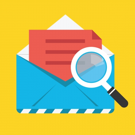 Search Opened Envelope Icon