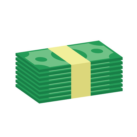 hundred dollar bill: Stack of Money Icon