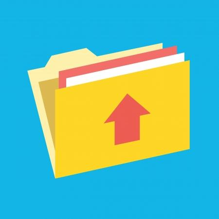 archive site: Upload Folder Icon Illustration