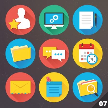 Pictogrammen voor web en mobiele applicaties Stock Illustratie
