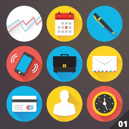 Icons for Web and Mobile Applications Stock Vector - 24351103