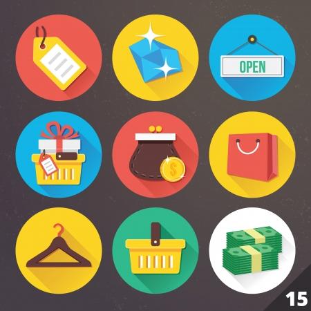 bolsa de regalo: Iconos para las aplicaciones web y m�viles Vectores