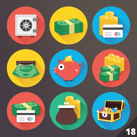 Icons for Web and Mobile Applications Stock Vector - 24351109
