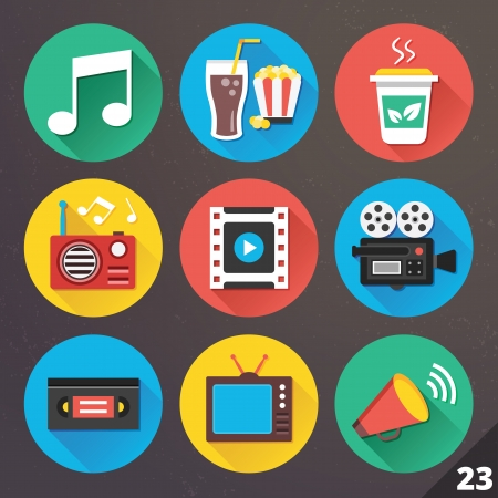 vhs videotape: Icons for Web and Mobile Applications