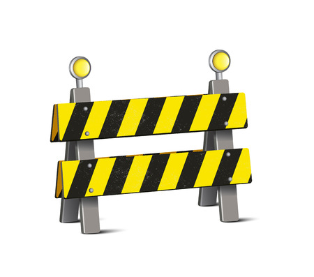 end of road: Road Barrier