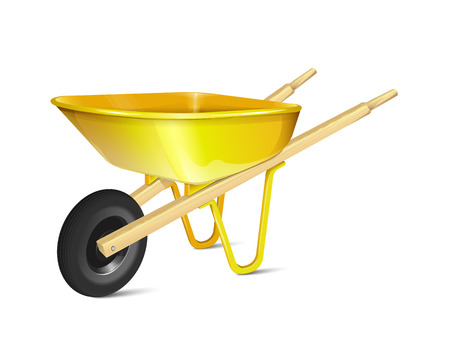 green construction: Wheelbarrow Illustration