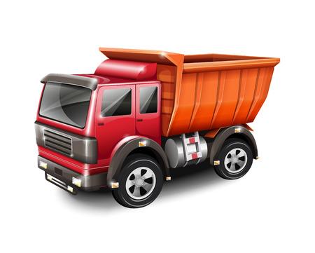 hauling: Truck  Illustration
