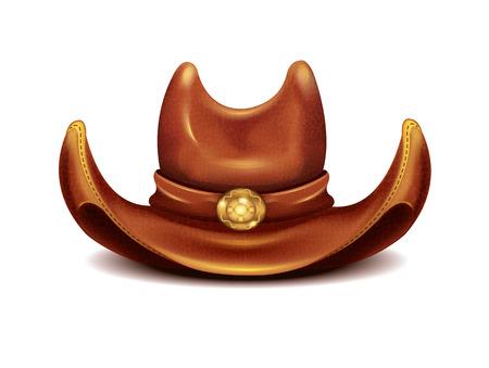 rancho: Vector realista sombrero de vaquero Vectores
