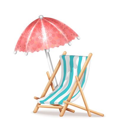 deckchair: Deck Chair and Umbrella