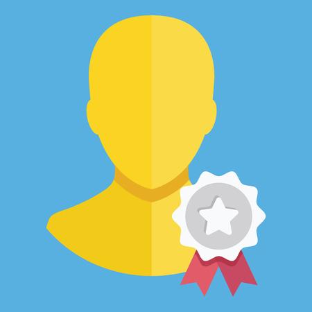 Vector Account Award Icon Vector