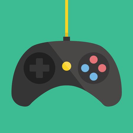 gamepad: Black Gamepad Icon Illustration