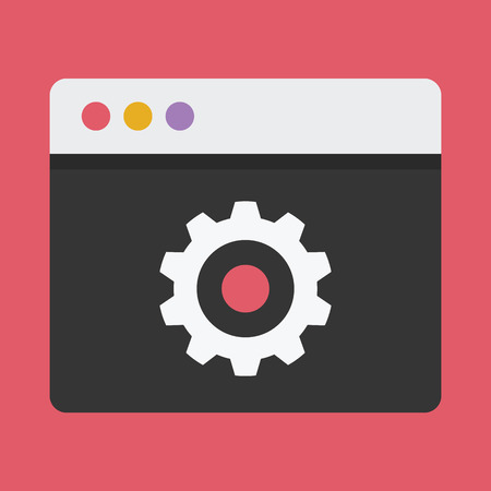 customize: Browser Settings Icon Illustration