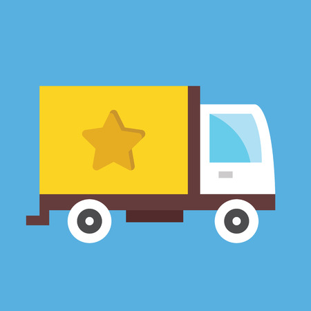 Cargo Delivery Truck Icon Imagens - 26453746