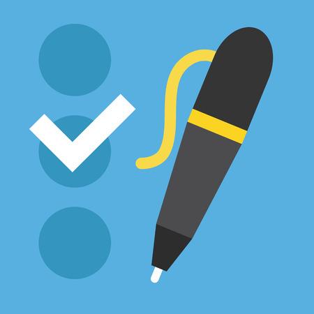 opinion poll: Checklist and Pen Icon