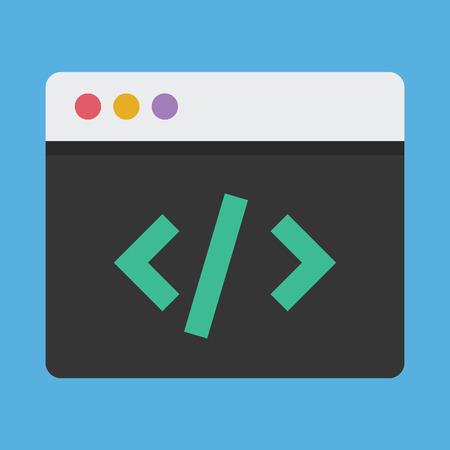 stylesheet: Coding Icon Illustration