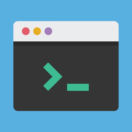 command button: Vector Command Line Icon Illustration