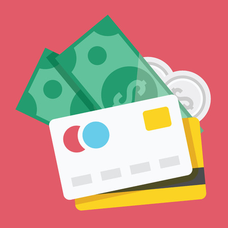 withdraw: Credit Cards and Money Icon