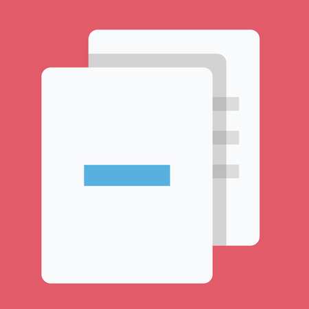 Delete Documents Icon Vector