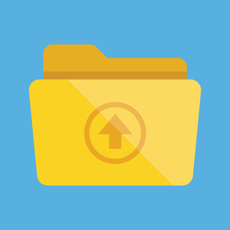 Folder and Upload Sign Icon Vector