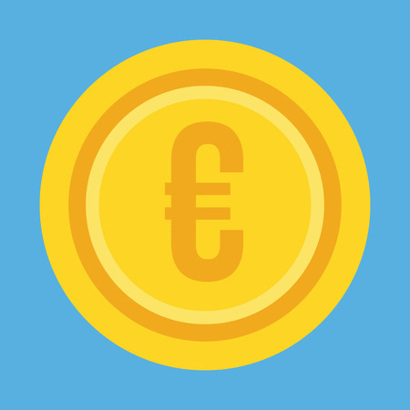 proceeds: Gold Coin Euro Icon Illustration