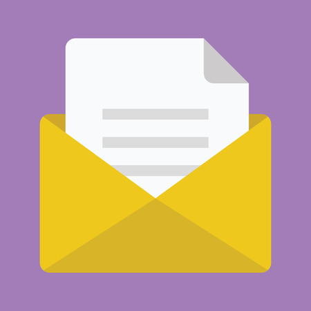 Opened Envelope with Document Icon Vector