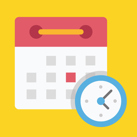 calendario escolar: Horario Icono
