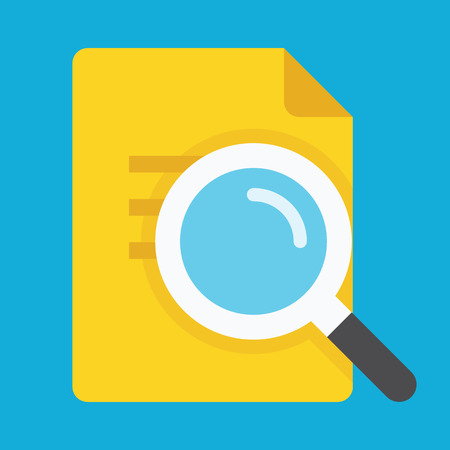 loupe: Search the Document Icon Illustration