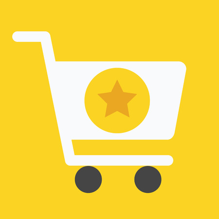 favorite:  Shopping Cart and Star Sign Icon