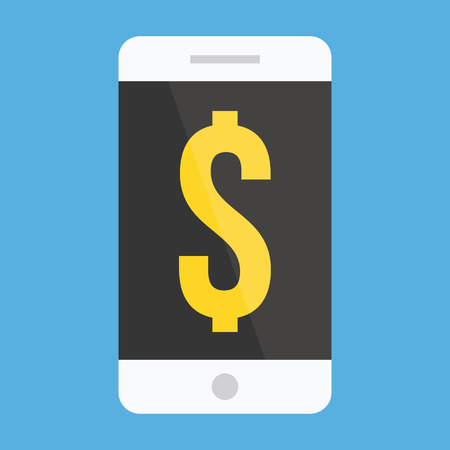 Smartphone and Dollar Sign Icon Vector