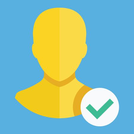 Verified Account Icon Vector