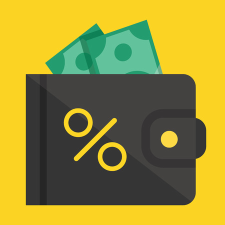 e wallet:  Wallet and Money Icon