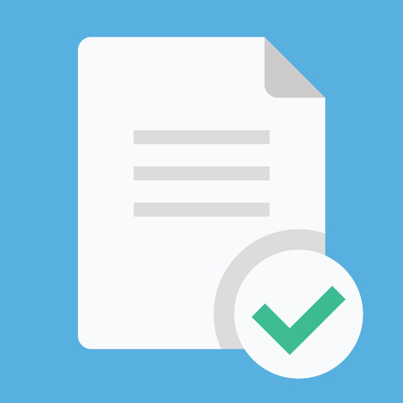 contract documents: Document and Check Mark Icon