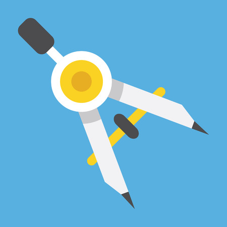 prototyping: Drawing Compass Icon Illustration