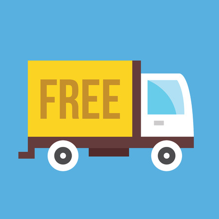 mail truck: Free Shipping Truck Icon