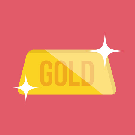 Golden Bar Icon Vector